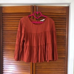 Madewell Tiered Button Back Top Large